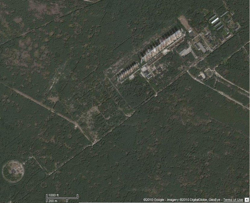 Vista desde satélite de la estación transmisora