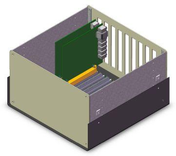 Caja Pandora modelo BK959, alojando las placas Atlas, Ozy, y Janus